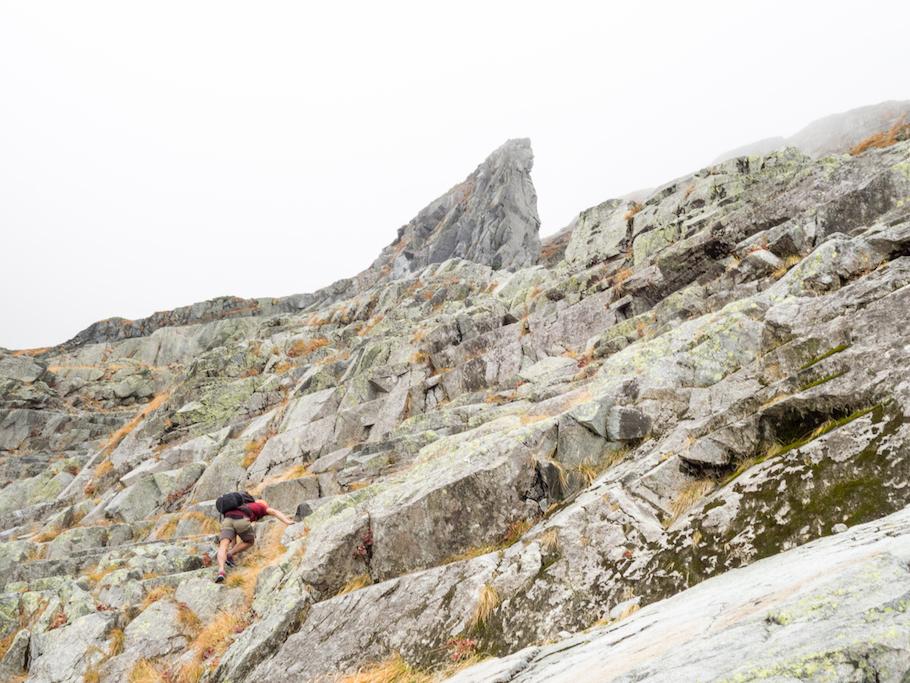 畳岩 中央ルンゼ